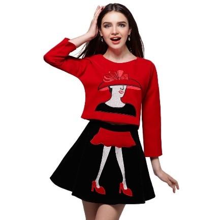Dress Warna Blok Mini