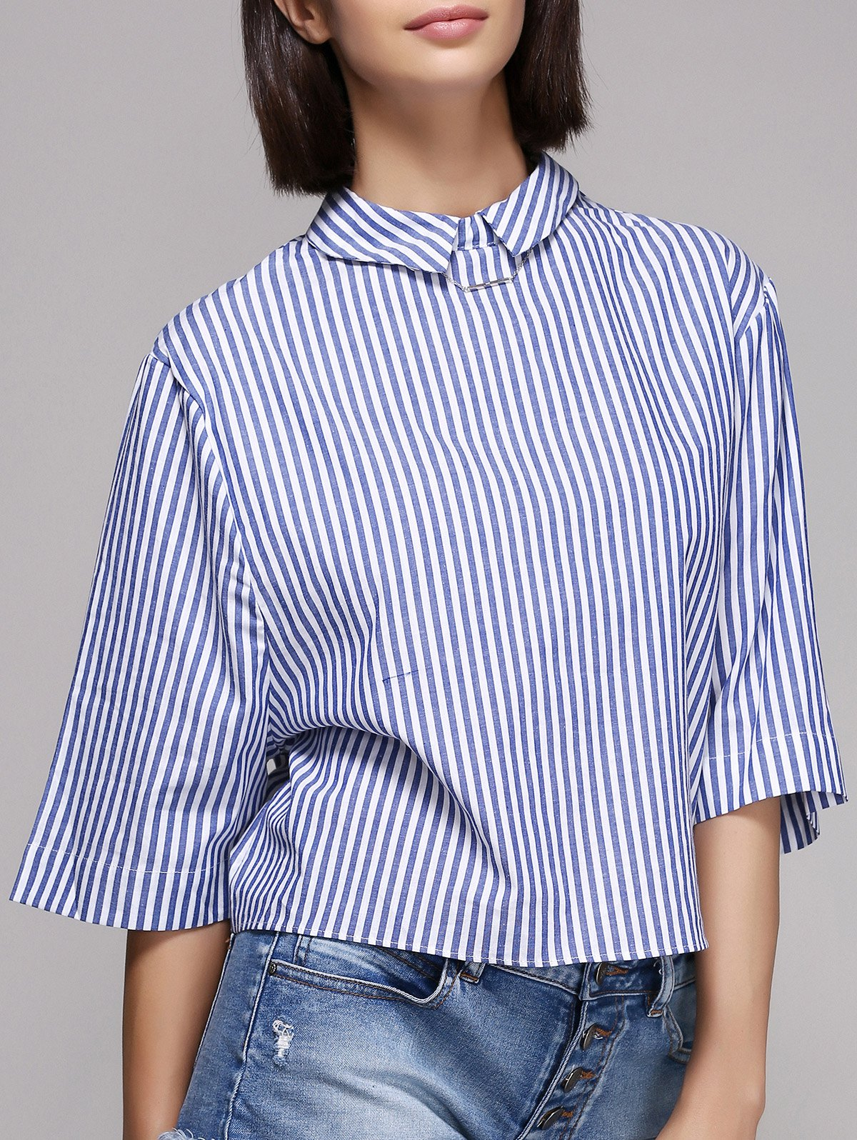 model kerah datar baju wanita
