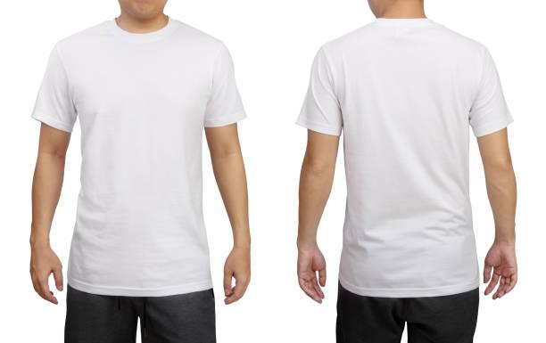 Kaos Polos Putih Depan Belakang