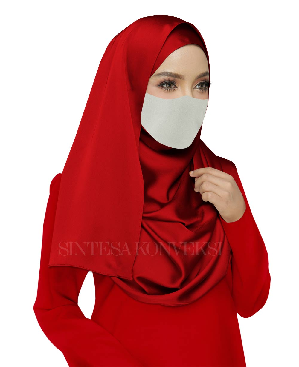 Baju Merah Cocok dengan Jilbab Warna Apa