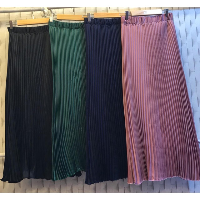 bahan rok plisket premium