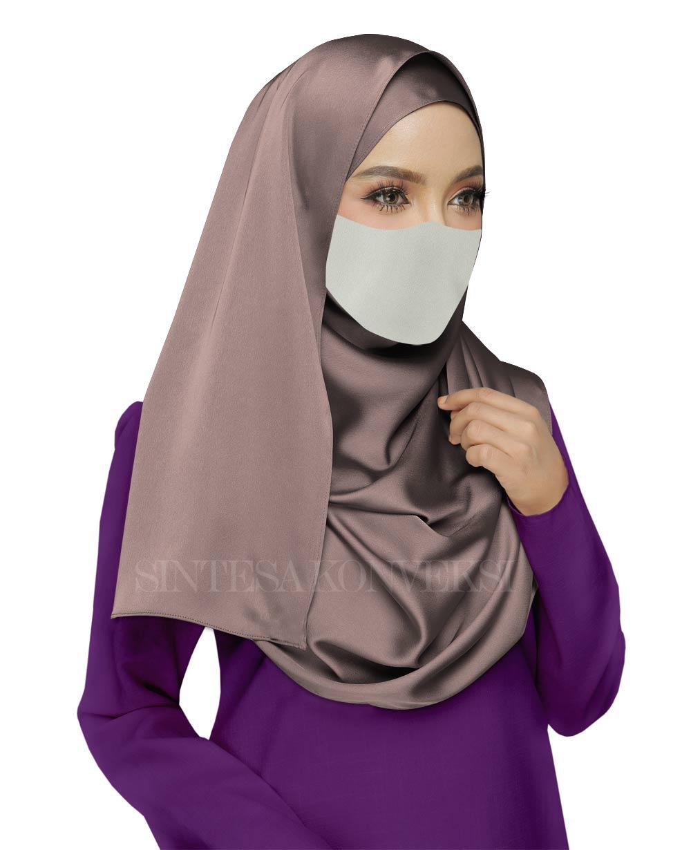 Baju Ungu Tua Cocok dengan Jilbab Warna Apa