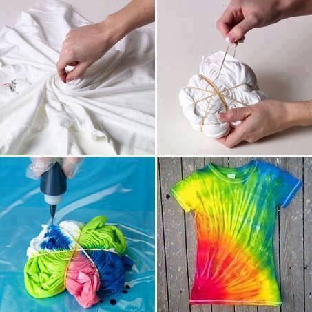cara tie dye baju putih